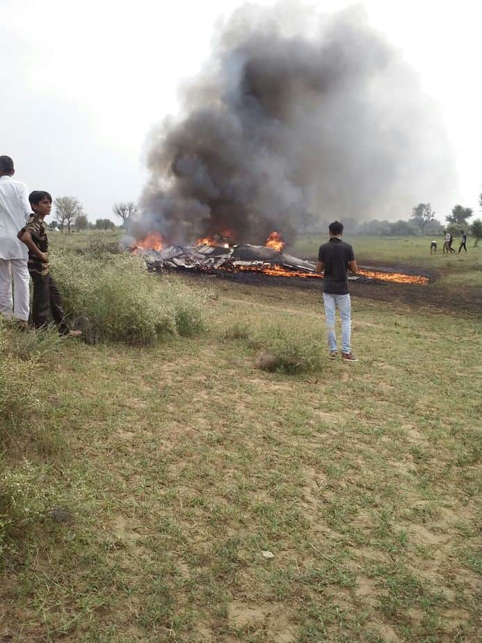 Army fighter aircraft collapsed