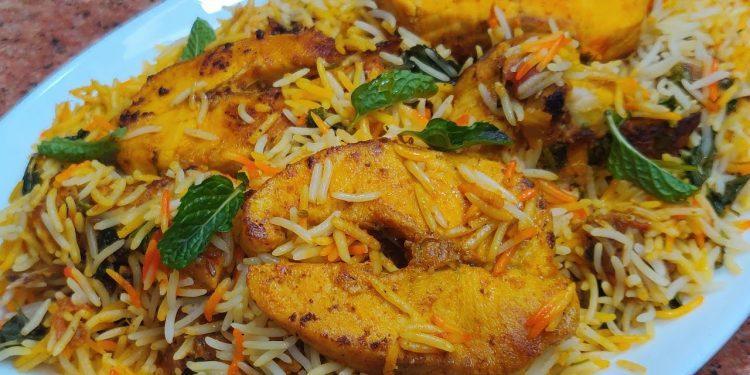 recipe of fish biryani